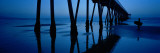Silhouette of a Pier, Hermosa Beach Pier, Hermosa Beach, California, USA Wall Decal by  Panoramic Images
