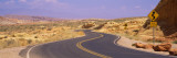 Winding Road Passing Through a Landscape, Valley of Fire State Park, Nevada, USA Wall Decal by  Panoramic Images