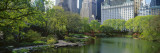 Pond in a Park, Central Park South, Central Park, Manhattan, New York City, New York State, USA Wallstickers af Panoramic Images,