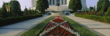 Formal Garden in Front of a Temple, Bahai Temple Gardens, Bahai House of Worship, Wilmette Wall Decal by  Panoramic Images