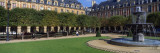Fountain and Trees in Front of a Building, Place Des Vosges, Paris, Ile-De-France, France Wall Decal by  Panoramic Images