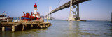 Boat Near Bay Bridge, San Francisco, California, USA Wall Decal by  Panoramic Images