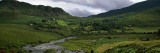 Stream Through Lush Mountain Landscape, Distant Cottages, Ireland Autocollant mural par Panoramic Images