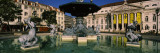 Fountain in Front of an Opera House, Praca Rossio, National Theatre Dona Maria Ii, Lisbon, Portugal Wall Decal by  Panoramic Images