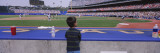 Rear View of a Boy Watching a Baseball Match, Dodgers Vs. Yankees, Dodger Stadium Wall Decal by  Panoramic Images