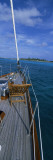 Chair on a Boat Deck, Exumas, Bahamas Wall Decal by  Panoramic Images