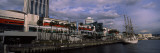 Sailboat at a Harbor, Osaka, Osaka Prefecture, Kinki Region, Honshu, Japan Wall Decal by  Panoramic Images