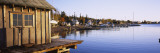 Houses at the Lakeside, North House Folk School, Lake Superior, Grand Marais, Minnesota, USA Wall Decal by  Panoramic Images