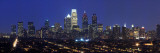 Buildings Lit Up at Night in a City, Comcast Center, Center City, Philadelphia Wall Decal by  Panoramic Images