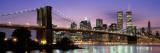 Brooklyn Bridge New York Ny, USA Kalkomania ścienna autor Panoramic Images