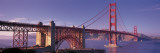Suspension Bridge at Dusk, Golden Gate Bridge, San Francisco, Marin County, California, USA Wall Decal by  Panoramic Images