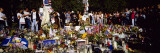 People Standing in Front of Offerings at a Memorial, New York City, New York, USA Wall Decal by  Panoramic Images