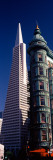 View of Towers, Columbus Tower, Transamerica Pyramid, San Francisco, California, USA Wall Decal by  Panoramic Images