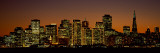 Skyscrapers Lit Up at Night, San Francisco, California, USA Wallstickers af Panoramic Images