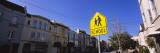 School Crossing Sign on a Street, San Francisco, California, USA Wall Decal by  Panoramic Images