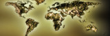 Close-Up of a World Map Wall Decal by Panoramic Images