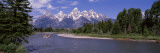 Inflatable Raft in a River, Grand Teton National Park, Wyoming, USA Vinilo decorativo por Panoramic Images
