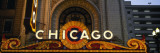 Close-up of the Entrance of a Stage Theater, Chicago Theater, Chicago, Illinois, USA Wall Decal by  Panoramic Images