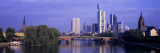 Skyline Main River Frankfurt Germany Autocollant mural par  Panoramic Images