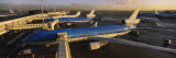 View of Airplanes at an Airport, Amsterdam Schiphol Airport, Amsterdam, Netherlands Wall Decal by  Panoramic Images