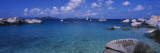 Rocks at the Coast with Boats, the Baths, Virgin Gorda, British Virgin Islands Wall Decal by  Panoramic Images