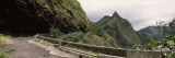 Road Passing Through a Mountain Range, Old Pali Highway, Oahu, Hawaii, USA Wall Decal by  Panoramic Images