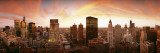 Sunset Skyline Chicago Il, USA Wall Decal by  Panoramic Images