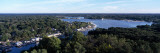 Aerial View of a Lake, Kalamazoo Lake, Saugatuck, Allegan County, Michigan, USA Wall Decal by  Panoramic Images