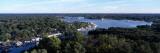 Aerial View of a Lake, Kalamazoo Lake, Saugatuck, Allegan County, Michigan, USA Wall Decal by  Panoramic Images