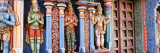 Statues of Hindu Gods Carved in a Temple, Tiruchirapalli, Tamil Nadu, India Wall Decal by Panoramic Images 