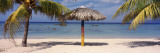 Sunshade on the Beach, La Boca, Cuba Wallstickers af Panoramic Images