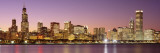 Dusk Skyline Chicago Il, USA Wall Decal by  Panoramic Images