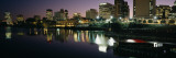 City Lit Up at Night, Newark, New Jersey, USA Wall Decal by  Panoramic Images