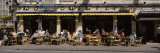 Group of People at a Sidewalk Cafe, Damstraat, Amsterdam, Netherlands Wall Decal by  Panoramic Images