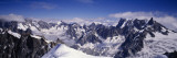 Mountain Range, Mt Blanc, the Alps, France Wall Decal by  Panoramic Images