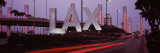 Airport at Dusk, Los Angeles International Airport, Los Angeles, California, USA Wall Decal by Panoramic Images 