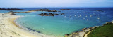 View of a Beach, Ploumanach, Brittany, France Wall Decal by Panoramic Images 