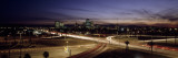 Buildings in a City Lit Up at Dusk, 7th St. Freeway, Phoenix, Maricopa County, Arizona, USA Wall Decal by  Panoramic Images