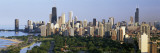 Hancock Building and Sears Tower, Lincoln Park, Lake Michigan, Chicago, Illinois, USA Wall Decal by  Panoramic Images
