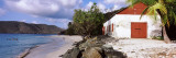 Building on the Beach, Cinnamon Bay, Virgin Islands National Park, St. John, US Virgin Island Wall Decal by  Panoramic Images