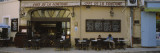 Man and a Woman Sitting at a Sidewalk Cafe, Lourmarin, Vaucluse, Provence-Alpes-Cote D'Azur, France Wall Decal by  Panoramic Images