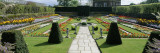 Formal Garden in Front of a Palace, Hampton Court Palace, London, England Wall Decal by  Panoramic Images