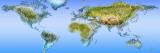 Nærbillede af et verdenskort Wallstickers af Panoramic Images