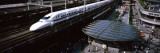 300 Series Shinkansen Train Leaving Railroad Station, Tokyo Prefecture, Kanto Region, Honshu, Japan Wall Decal by  Panoramic Images