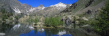 Reflection of Mountains in Trecoulpes Lake, Mercantour National Park, French Riviera, France Wallsticker af Panoramic Images,