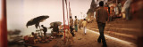 Group of People at a Riverbank, Ganges River, Varanasi, Uttar Pradesh, India Wall Decal by  Panoramic Images
