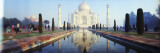 Reflection of a Mausoleum in Water, Taj Mahal, Agra, Uttar Pradesh, India Autocollant mural par  Panoramic Images