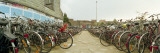 Bicycles of Commuters Parked in Parking Lot of Railway Station, Ghent, East Flanders, Belgium Wall Decal by  Panoramic Images