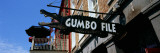 Signboard Outside of Restaurant, Gumbo File Restaurant, French Market, New Orleans, Louisiana Wall Decal by  Panoramic Images