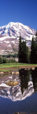 Reflection of a Mountain in a Lake, Mt Rainier, Pierce County, Washington State, USA Wall Decal by  Panoramic Images